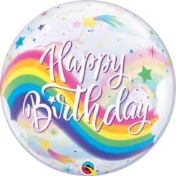 Balon Birthday Rainbow Unicorns