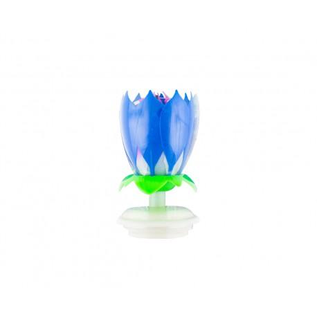 Fontanna Kwiatek wirująco-grający, niebieski