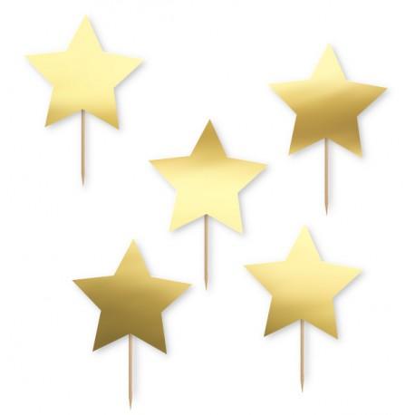Pikery gwiazdki złote 5szt