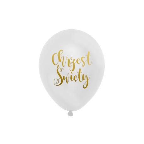 Balon Chrzest Święty biały