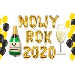 Zestaw balonów Szampański NOWY ROK 2020