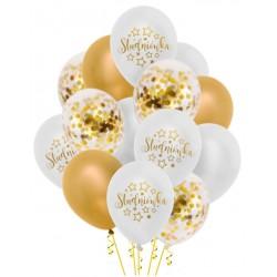 Zestaw balonów Studniówka konfetti 14szt