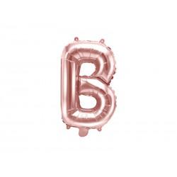 """Balon foliowy Litera """"B"""", 35cm, różowe złoto"""