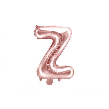"""Balon foliowy Litera """"Z"""", 35cm, różowe złoto"""