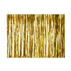 Kurtyna zasłona, lameta złota