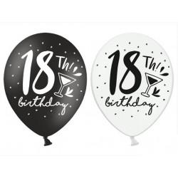Balony 30cm, 18th! birthday, mix