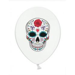 Balon 30 cm, Dia de los Muertos, Pastel Pure White 1szt