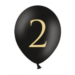 Balon 30cm, 2, Pastel Black 1szt