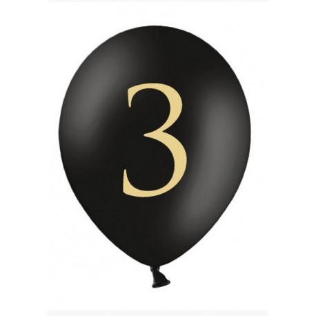 Balon 30cm, 3, Pastel Black 1szt