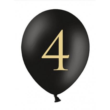 Balon 30cm, 4, Pastel Black 1szt