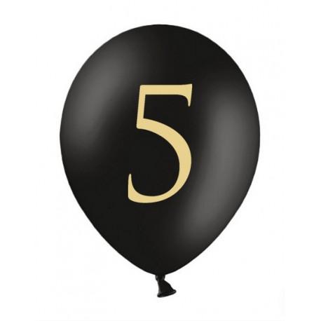Balony 30cm, 5, Pastel Black
