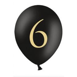 Balon 30cm, 6, Pastel Black 1szt