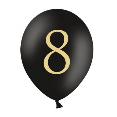 Balon 30cm, 8, Pastel Black 1szt