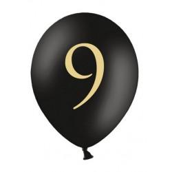 Balony 30cm, 9, Pastel Black