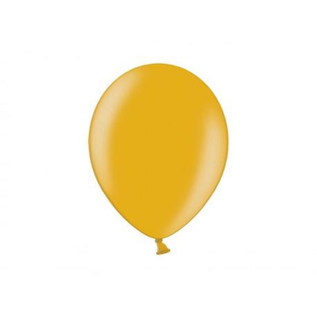 Balon 10'', Metallic Gold, złoty, 1szt