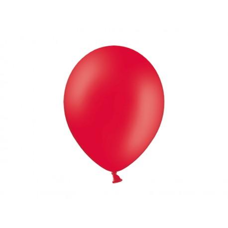 Balon 10'', Pastel Red, czerwony, 1szt