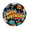 "Balon foliowy 18"", ""Birthday Super Hero"" czarny"