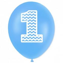 """Balon urodzinowy """"1"""" niebieski"""