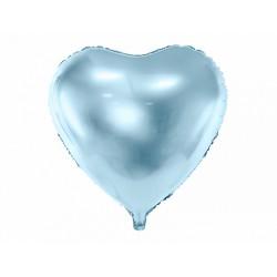 """Balon foliowy 18"""", serce błękitny, 1szt"""