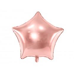 """Balon foliowy 18"""" gwiazda, złoty róż"""