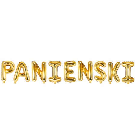 Balony PANIENSKI złoty 35cm