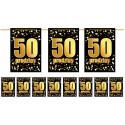 Girlanda flagi 50 urodziny złoto czarna