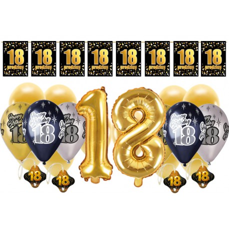 Dekoracje na 18 urodziny