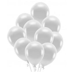 Balony srebrne 30cm 10szt