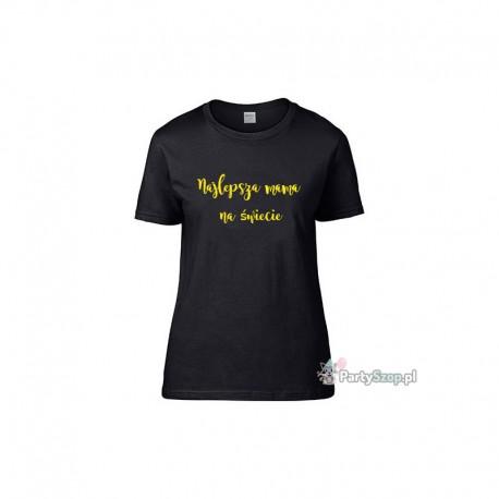 Koszulka personalizowana na Dzień Mamy S czarna
