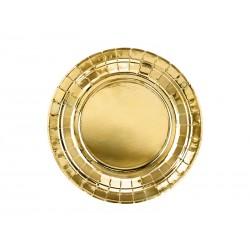 Talerzyki papierowe złote, 18cm/8szt.