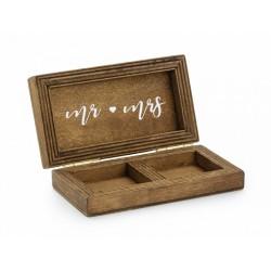 Drewniane pudełko na obrączki 10x5.5 cm