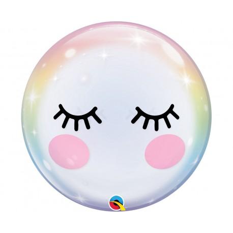Balon foliowy 22 cale Bubble Rzęsy