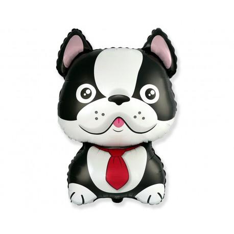 Balon foliowy 24 cale Pies Bulldog czarny