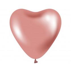 """Balony Beauty&Charm platynowe różowe serca 12""""/ 6 szt."""