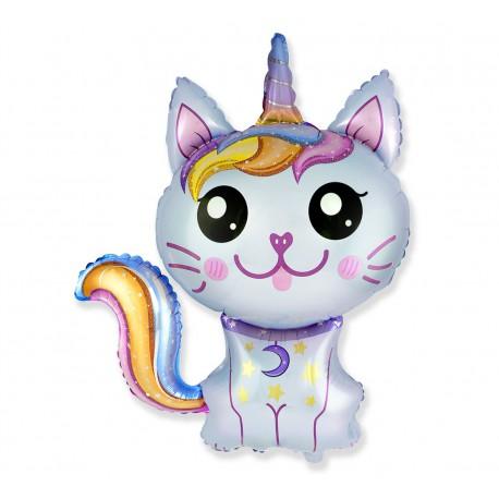 """Balon foliowy 24"""" Magiczny kot niebieski"""