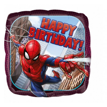 "Balon foliowy 18"" Spiderman Happy Birthday"