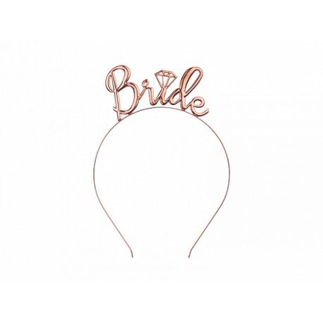 Opaska Bride, różowe złoto