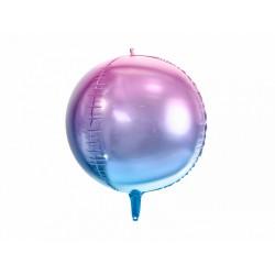Balon foliowy Kula ombre, fioletowo-niebieski, 35cm