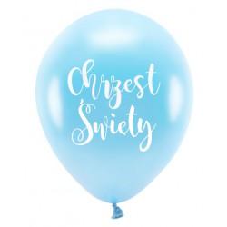 Balon Chrzest Święty błękitny