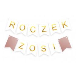 Baner PANIEŃSKI + IMIĘ rose gold