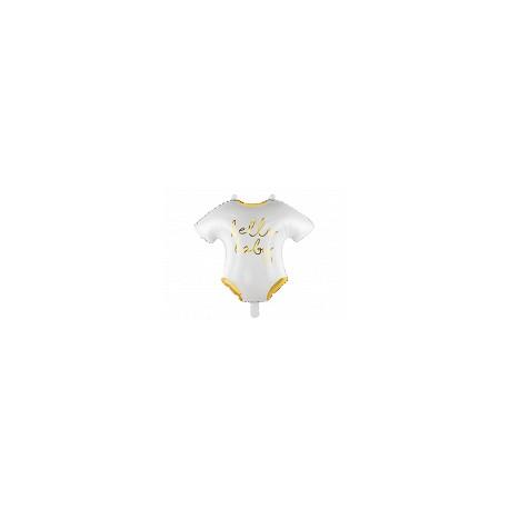 Balon foliowy Śpioszki  Hello Baby 51x45cm biały