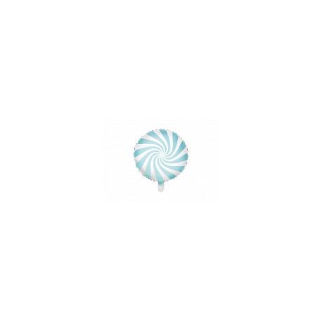Balon foliowy Cukierek  35cm jasny niebieski