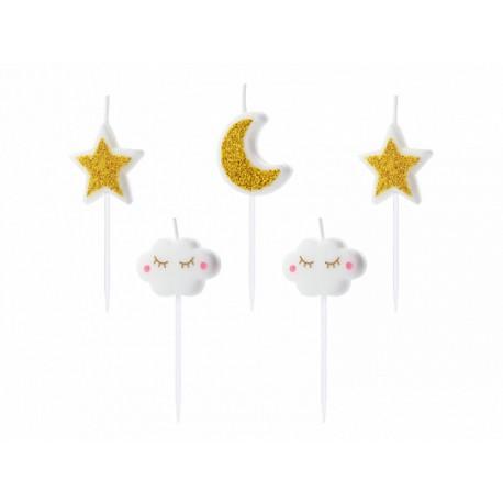 Świeczki urodzinowe Little Star mix 2-3cm