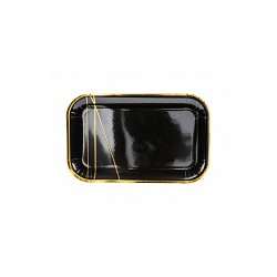 Talerzyki czarny 22x13,5cm