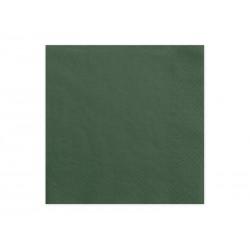 Serwetki trójwarstwowe zieleń  33x33cm