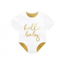 Serwetki Śpioszki Hello Baby biały 16x16cm