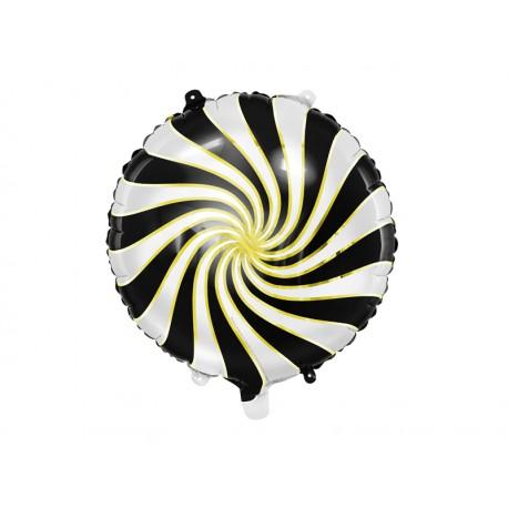 Balon foliowy Cukierek 35cm czarny