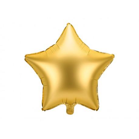 Balon foliowy Gwiazdka 48cm złoty