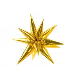 Balon foliowy Gwiazda 3D, 70cm złoty