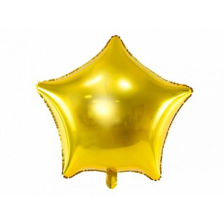 Balon foliowy Gwiazdka, 70cm, złoty